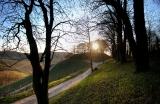 Abend am Casteller Schlossberg