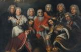 Die Familie Schönborn, barocke Fürstbischöfe und Mäzene, auf dem Altarbild der Dreifaltigkeitskirche Gaibach