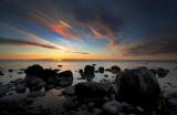 Sonnenaufgang an der Kreideküste von Møn, Dänemark