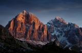 Morgenlicht an der Tofana, Dolomiten