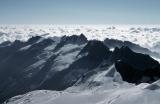 Blick vom Gran Paradiso, Wölkchen über der Po-Ebene